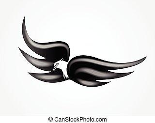 飛行, ロゴ, 鳥