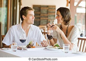 食事をする, 恋人, 若い