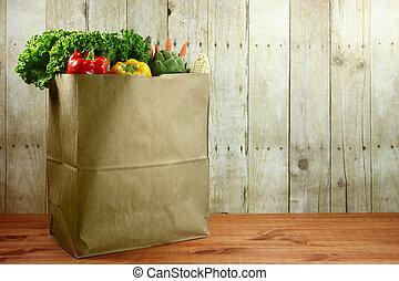 食料雑貨, 木製である, 項目, 袋, 産物, 板