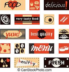 食物, 型, タイトル, 映像
