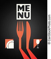 食物, 皿, メニュー, デザイン, 飲みなさい