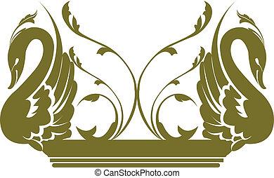 飾られる, 白鳥