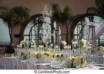 飾られる, beautifully, 開催地, 結婚式