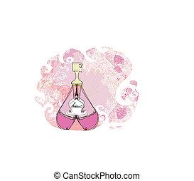香水のビン, 香り, 花