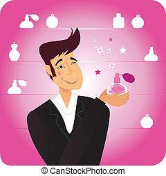 香水, -, 人, 贈り物, ピンク