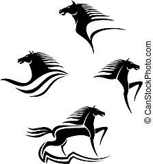 馬, シンボル, 黒