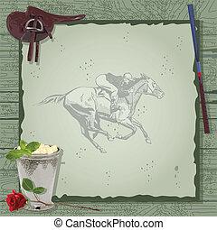 馬, パーティー, invitation., 競争