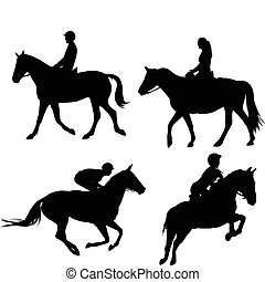 馬, 乗馬者