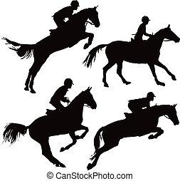 馬, 跳躍, ライダー