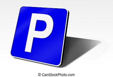 駐車, 交通標識