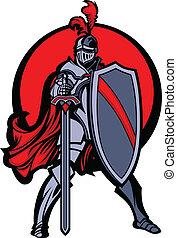 騎士, 保護, 剣, マスコット