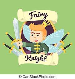 騎士, 妖精, フレーム, イラスト