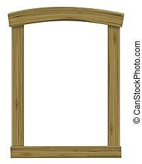 骨董品, ドア, 木製のフレーム, ウインドウアーチ, ∥あるいは∥
