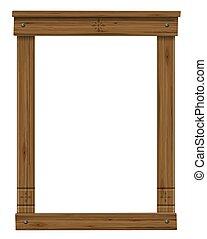 骨董品, ドア, 木製のフレーム, 窓, ∥あるいは∥