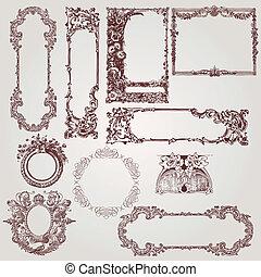 骨董品, フレーム, victorian