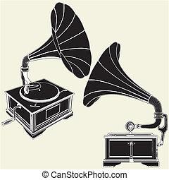 骨董品, 蓄音機