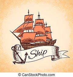 高い 船, 紋章