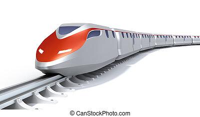 高く, 列車, 概念, スピード