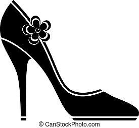 高く, 靴, かかと, (silhouette)