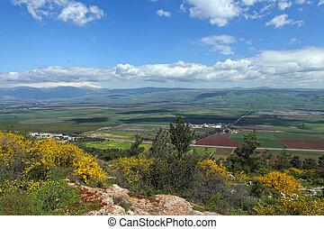 高さ, golan, 風景, イスラエル