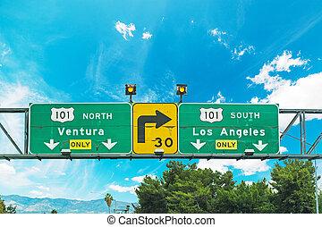 高速道路, 交差道路, 印, アンジェルという名前の人たち, los, 101