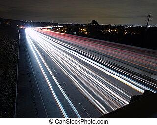 高速道路, 夜