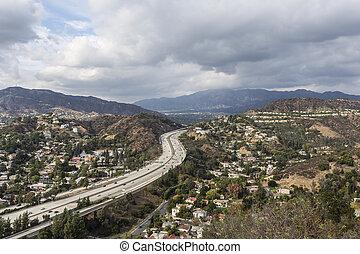 高速道路, 近傍, アンジェルという名前の人たち, los, カリフォルニア, glendale