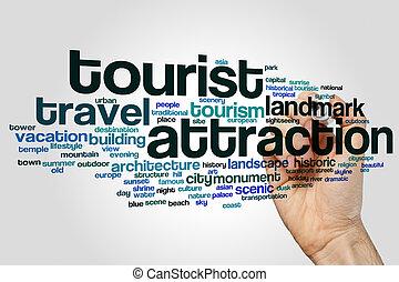 魅力, 単語, 観光客, 雲