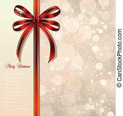 魔法, 弓, バックグラウンド。, ベクトル, クリスマス, 赤