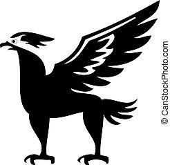鳥, フェニックス, シルエット