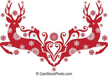 鹿, ベクトル, クリスマス