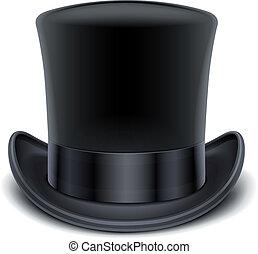 黒いトップ, 帽子