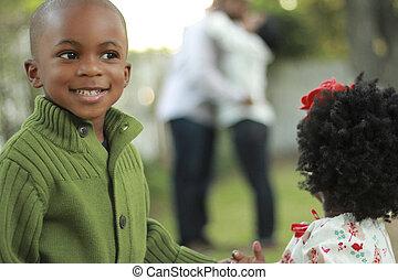 黒人の家族