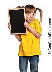 黒板, 女の子