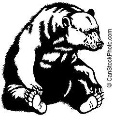 黒熊, モデル, 白