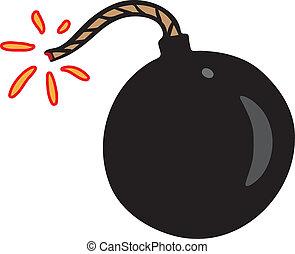 黒, わずかしか, 爆弾, 火花