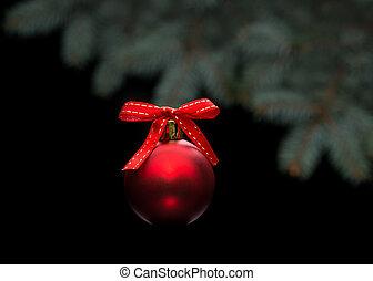 黒, クリスマスボール, 赤