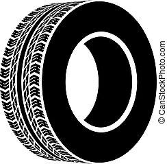 黒, シンボル, ベクトル, 地勢, tyre