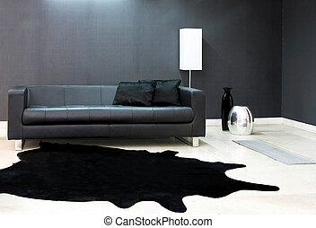 黒, ソファー