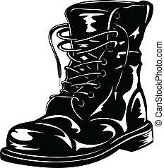 黒, ブーツ, 軍隊