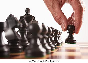 黒, 動きなさい, プレーヤー, チェス, 最初に