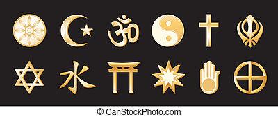 黒, 宗教, 世界, backgound