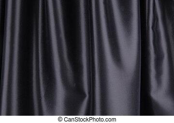 黒, 絹, ひだのある布