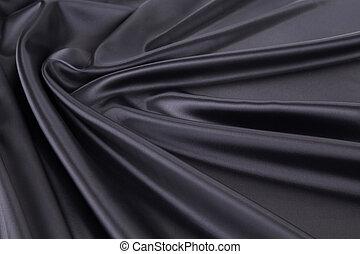 黒, 絹, drapery.