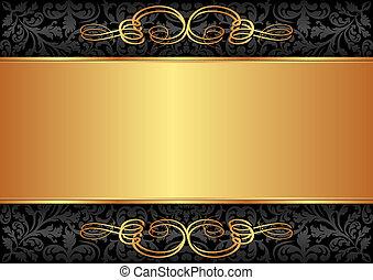 黒, 金, 背景