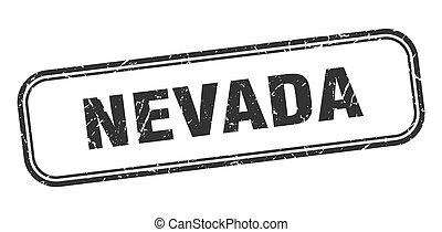 黒, 隔離された, グランジ, 印, stamp., ネバダ