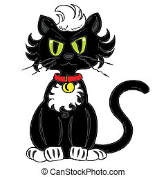 黒, cat.