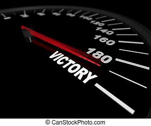-, ∥に向かって∥, 速度計, 勝利, スピード違反