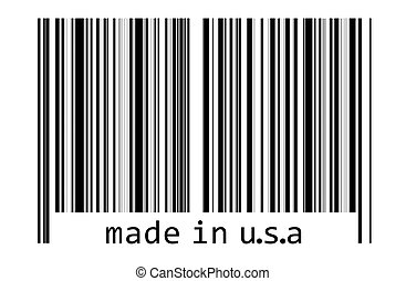 -, コード, バー, アメリカ, 作られた