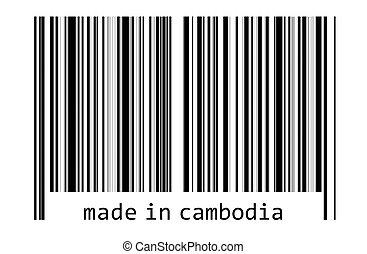 -, コード, バー, カンボジア, 作られた
